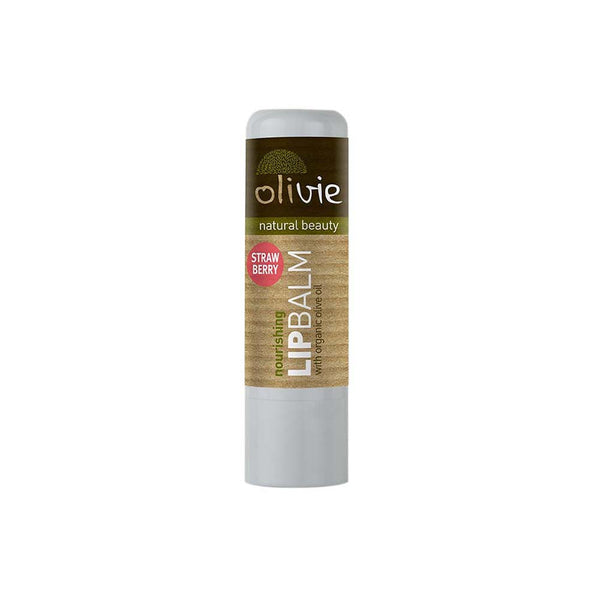 Olivie Lip Balm with Organic Olive Oil and Strawberry