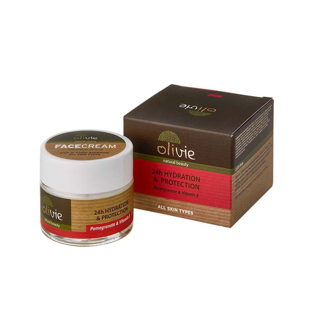 Olivie Organic Olive Oil Face Cream with Pomegranate and Vitamin E