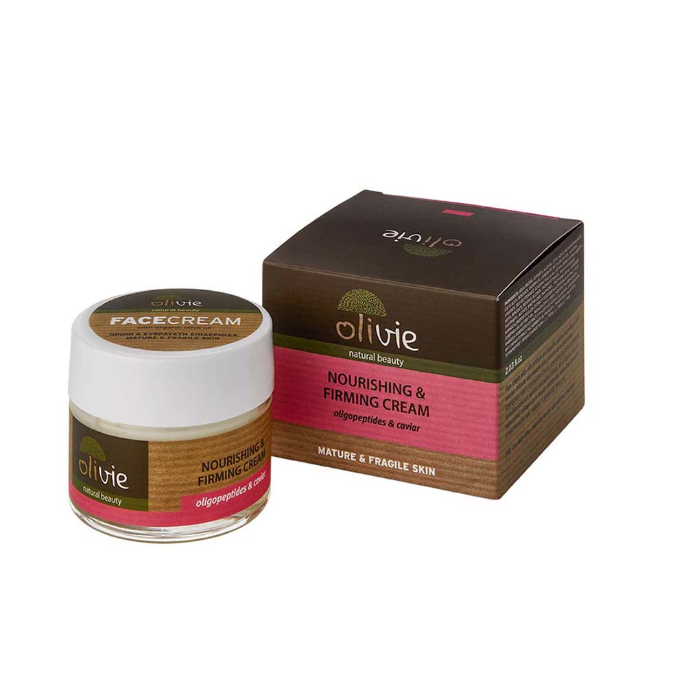 Olivie Organic Olive Oil Nourishing & Firming Cream with Oligopeptides & Caviar