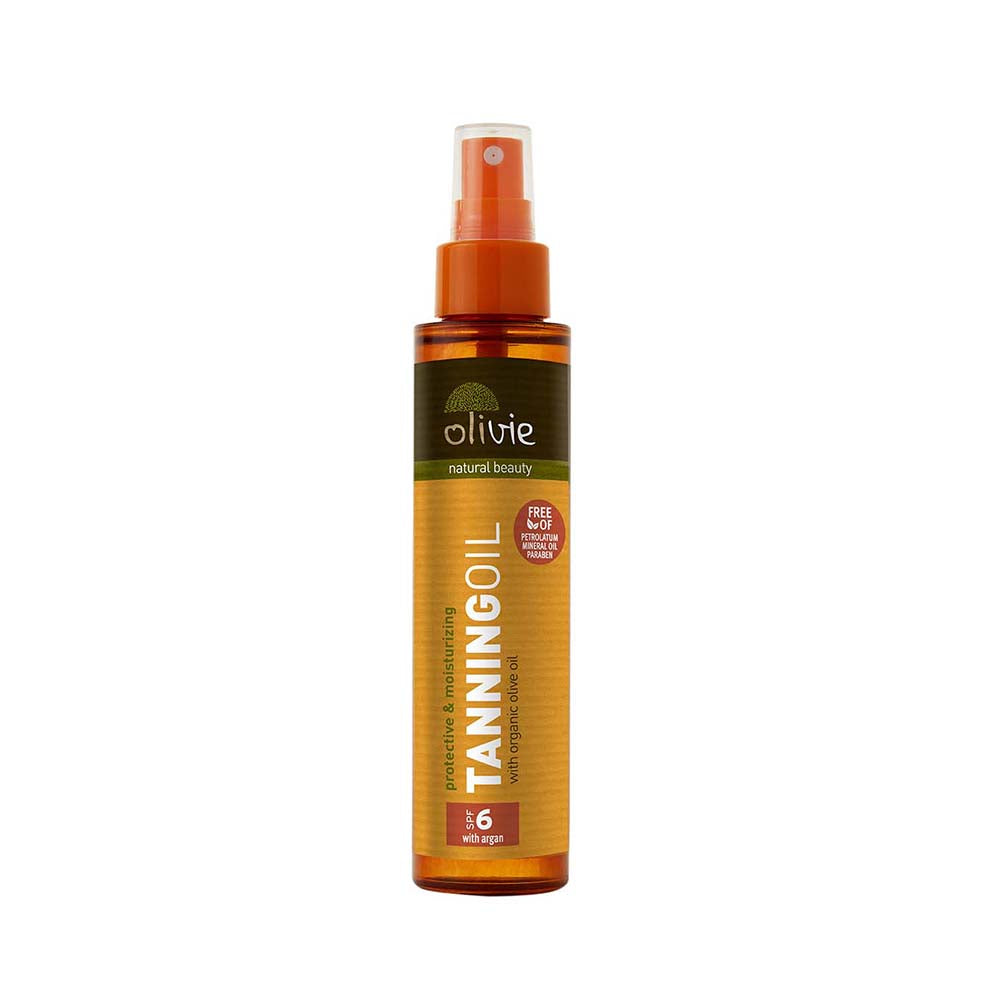 Olivie Sun Tanning Oil with Organic Olive Oil and Argan SPF 6