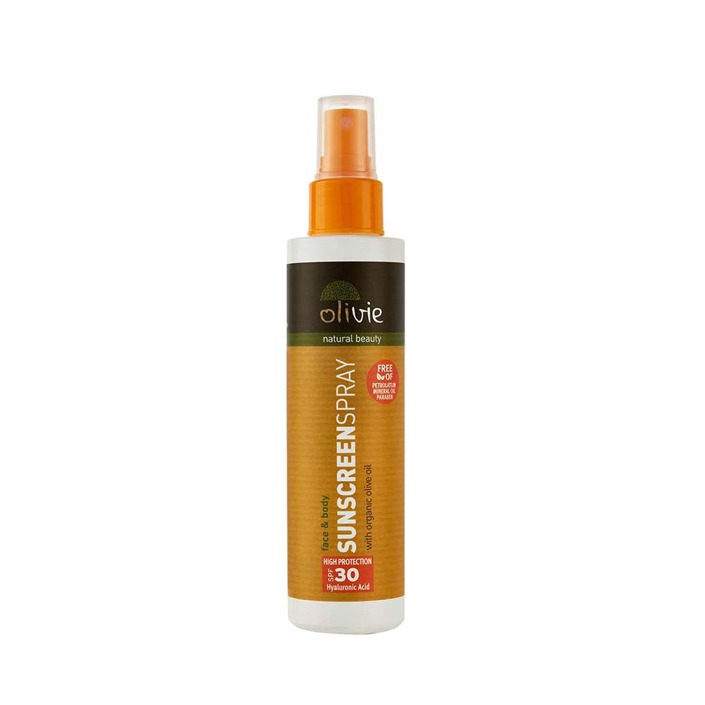 Olivie Sunscreen Spray with Organic Olive Oil and Hyaluronic Acid SPF 30