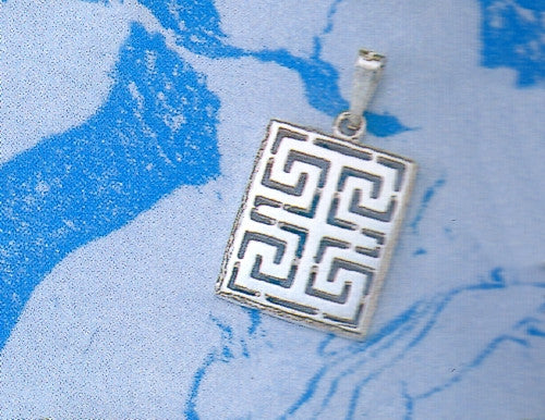 Greek Key Meander Pendant AM142