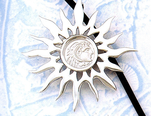 Blazing Sun with Alexander the Great Pendant AM352