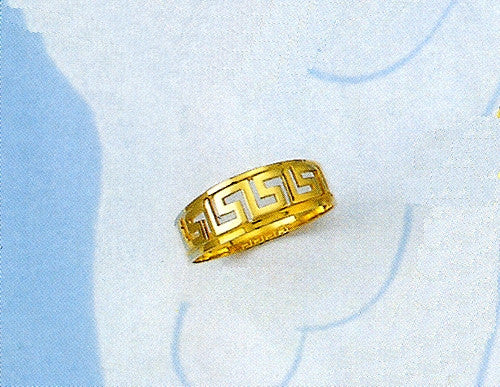 Gold Greek key band ring D51
