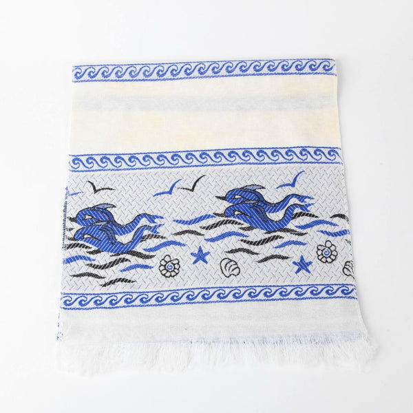 Greek Doily ~ Dolphin ~ Blue