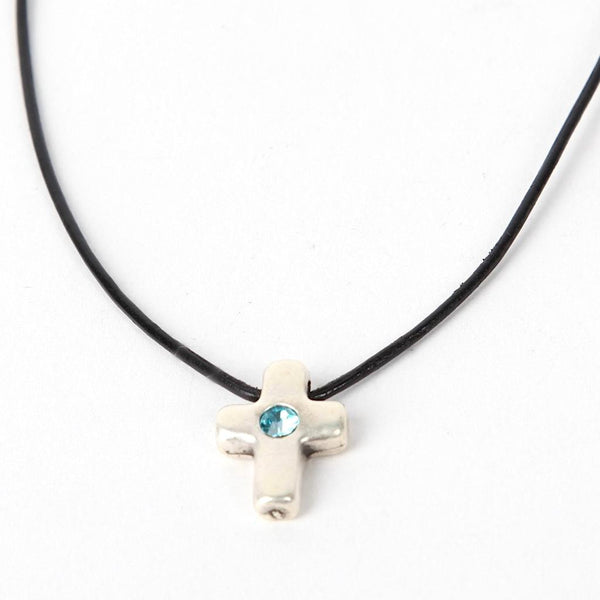 Cross Pendant with Strass
