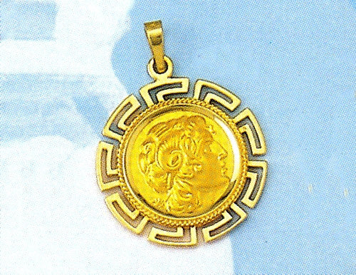 Gold Alexander the Great pendant