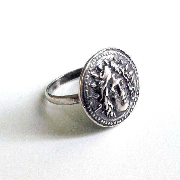 Helios Ring ~ God of Sun ~ Sterling Silver