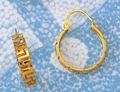 Gold Greek key Meander Earring