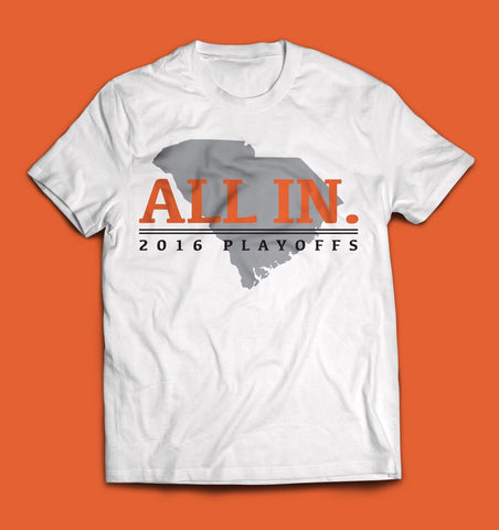 Clemson ALL IN T-Shirt + FREE Koozie (FREE SHIPPING)