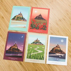 Ô VERMILLON POSTCARD SET