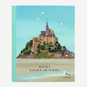 Ô VERMILLON MINI NOTEBOOK - 03. MONT-SAINT-MICHEL SEAGULL