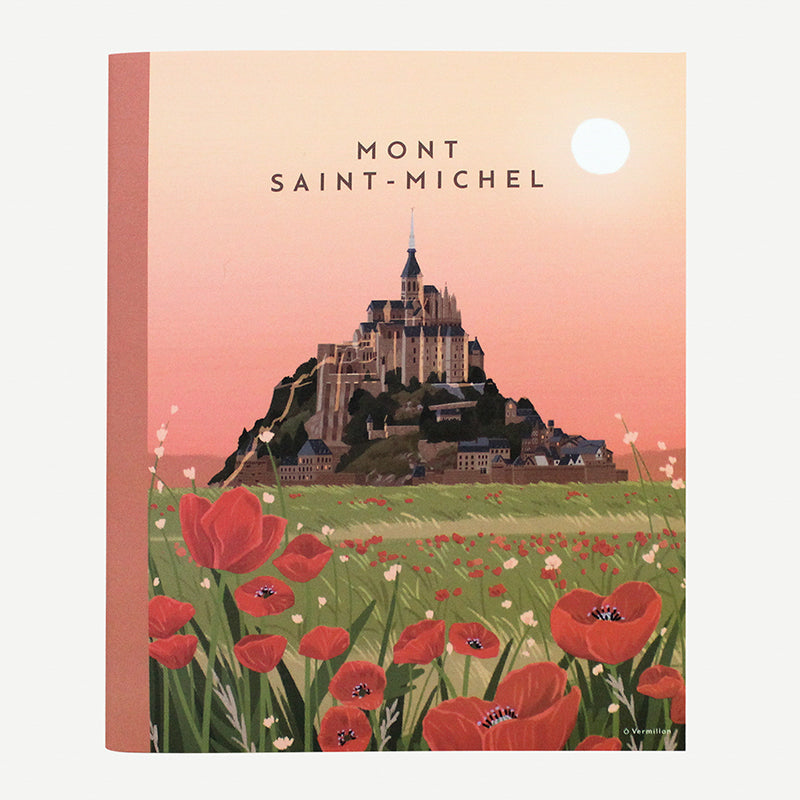 Ô VERMILLON MINI NOTEBOOK - 04. MONT-SAINT-MICHEL GARDEN POPPY