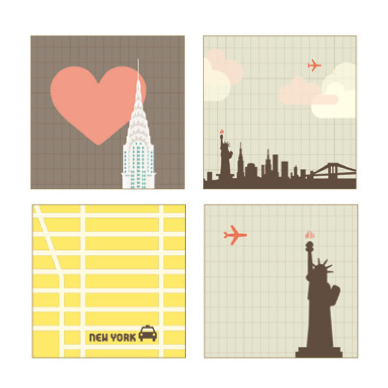PAPERWAYS GLUEMEMO MINI QUAD - NEW YORK CITY