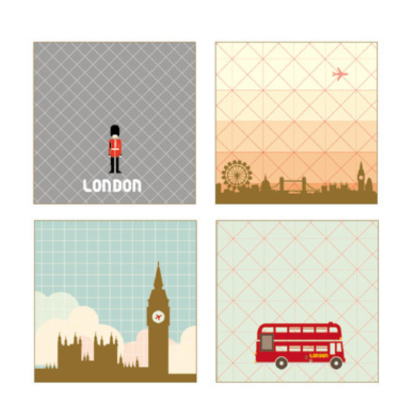 PAPERWAYS GLUEMEMO MINI QUAD - LONDON