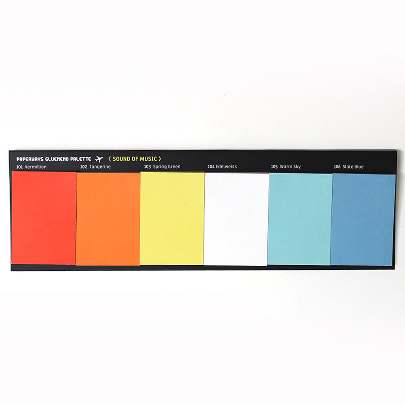 PAPERWAYS GLUEMEMO PALETTE - 1. SOUND OF MUSIC