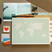 Load image into Gallery viewer, PAPERWAYS A4 DESK NOTEPAD - 11. WORLD MAP