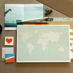 PAPERWAYS A4 DESK NOTEPAD - 11. WORLD MAP