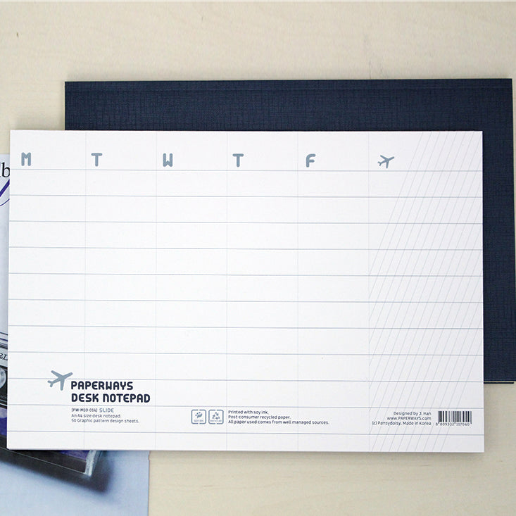 PAPERWAYS A4 DESK NOTEPAD - 14. SLIDE