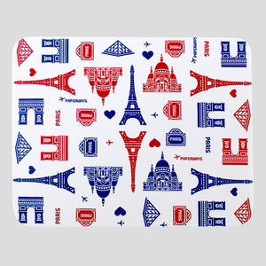 PAPERWAYS MICROFIBER MOUSE PAD - 2. PARIS PATTERN WHITE