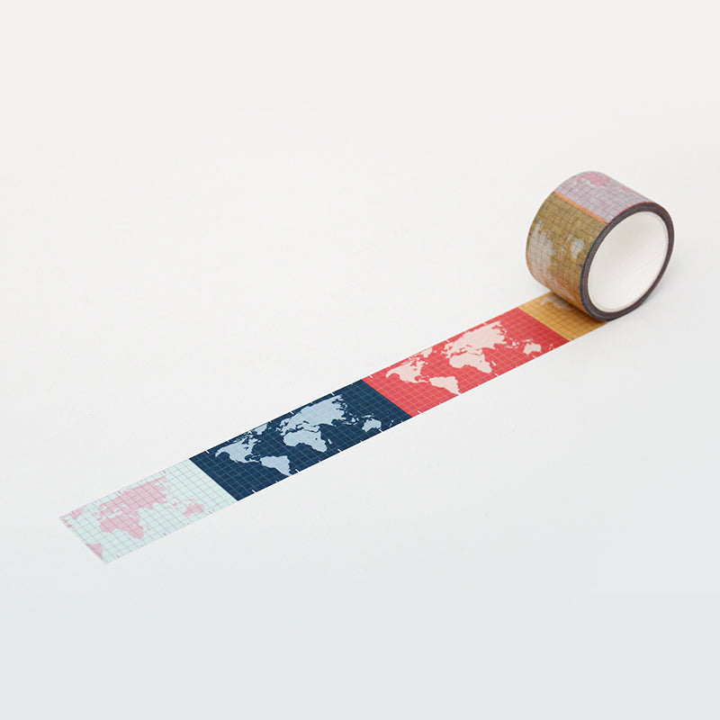 PAPERWAYS MASKING TAPE (30mm) - 01. WORLD MAP