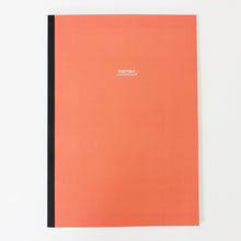 Load image into Gallery viewer, PAPERWAYS NOTEBOOK L - MONTHLY1 - CORAL RED