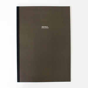 PAPERWAYS NOTEBOOK L - MONTHLY2 - DARK BROWN
