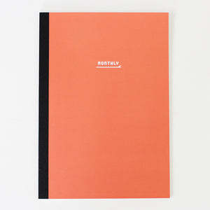 PAPERWAYS NOTEBOOK M - MONTHLY1 - CORAL RED