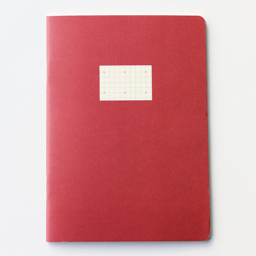 PAPERWAYS COMPAT NOTEBOOK - CROSS GRID RED
