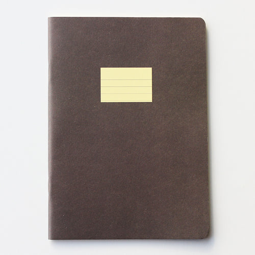 PAPERWAYS COMPAT NOTEBOOK - RULED BROWN