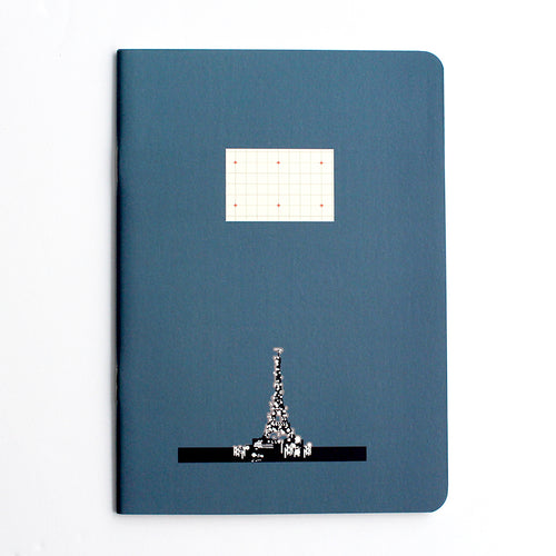 PAPERWAYS COMPAT NOTEBOOK - PARIS NIGHT EIFFEL