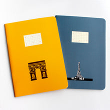 Load image into Gallery viewer, PAPERWAYS COMPAT NOTEBOOK - PARIS NIGHT EIFFEL