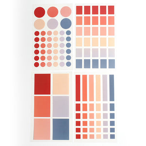 PAPERWAYS PALETTE LABEL STICKER SET - 2. BEFORE SUNSET