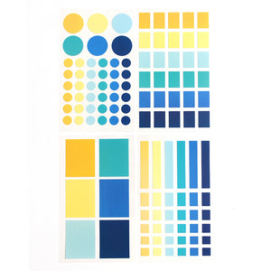 PAPERWAYS PALETTE LABEL STICKER SET - 4. MIDNIGHT IN PARIS