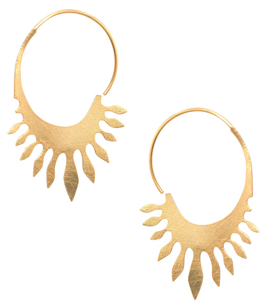 Golden Surya Earrings