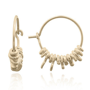 Golden Jagger Hoops