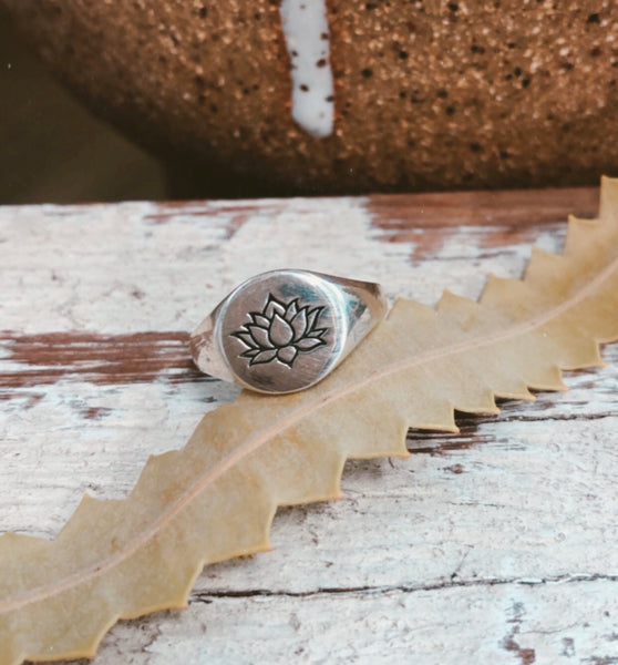 Lotus Signet Ring