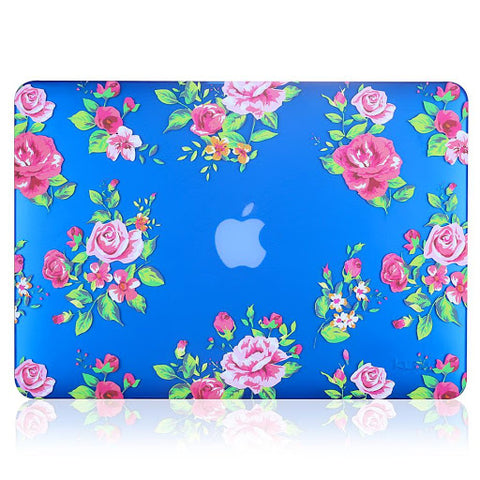 Blue-MacBook-Pro-case-with-flower-pattern