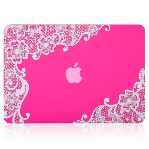 Pink-MacBook-Pro-case-with-white-lace-pattern