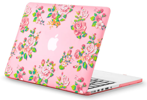 "Vintage Flowers Rubberized Hard Cover | Older MacBook Pro 13.3"" with Retina Display"