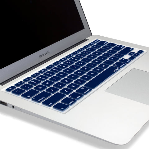 Free Kuzy Keyboard Cover for MacBook Pro or Air - Dark Navy Blue