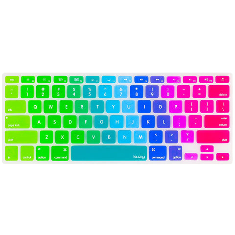 "Newest Rainbow Keyboard Cover for MacBook Pro 13"", 15"" and MacBook Air 13"