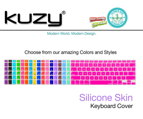"Colored - Keyboard Silicone Cover Skin for MacBook Pro 13"" 15"" 17"" (with or w/out Retina Display) iMac and MacBook Air 13.3"" - Kuzy  