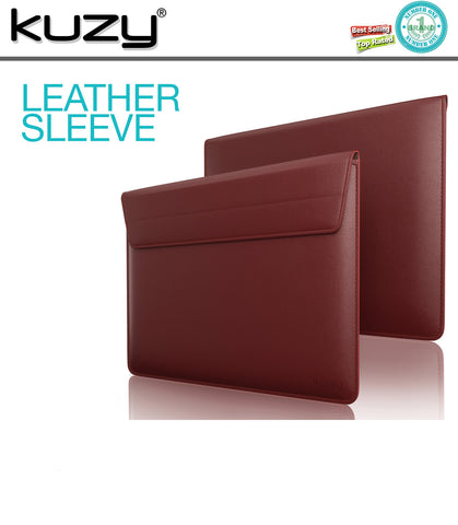"15"" Leather Sleeve Case for MacBook Pro 15"" and 15"" Laptops"
