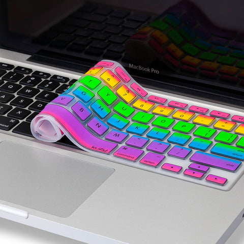 "Rainbow Keyboard Cover for MacBook Pro 13"", 15"" and MacBook Air 13 - Kuzy  