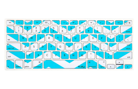"Chevron  - Keyboard Cover Skin Silicone for MacBook Pro 13"" 15"" 17"" - Kuzy  