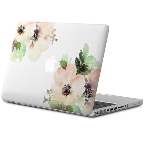 "Flower Print Older Version MacBook Pro 13""  Rubberized Hard Cases Model: A1278 with DVD Drive"