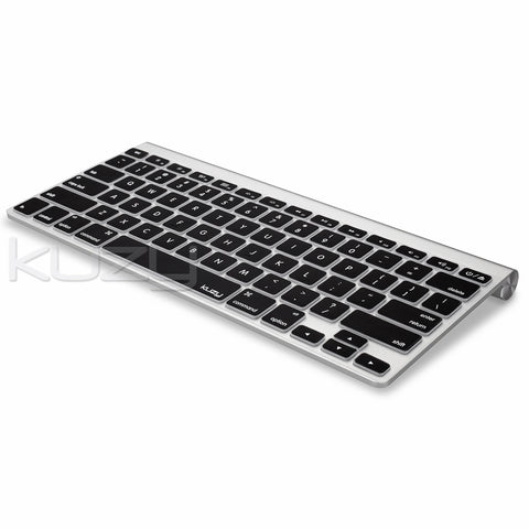 "Black - Keyboard Cover for MacBook Pro 13"" 15"" 17"" (with or w/out Retina Display) iMac and MacBook Air 13"" Silicone Skin"