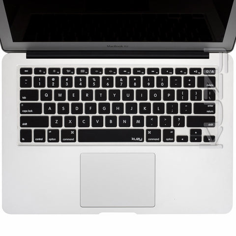 "Black - Keyboard Cover for MacBook Pro 13"" 15"" 17"" (with or w/out Retina Display) iMac and MacBook Air 13"" Silicone Skin - Kuzy  