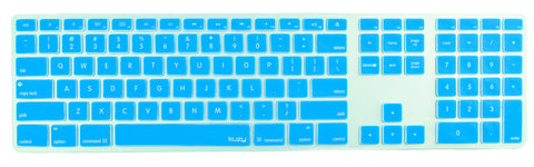 Keyboard Cover for Apple Keyboard with Numeric Keypad with Wire USB Model: A1243